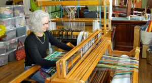 Ann at her loom