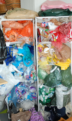 Plastics to be recycled into bags